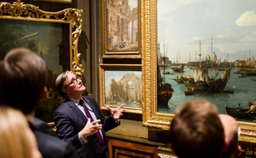 A guided tour visits the Picture Room at Sir John Soane's Museum
