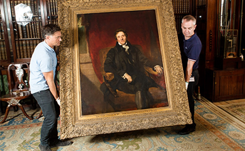Conserving the frame of Soane's portrait