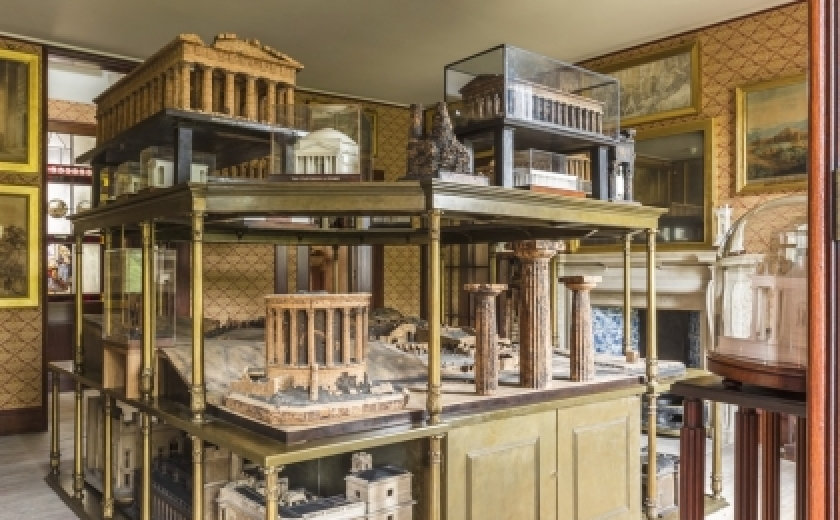 The Model Room in the Private Apartments of the Soane Museum