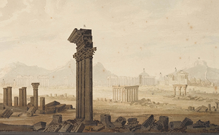 View of Palmyra drawn for Soane's Royal Academy lectures