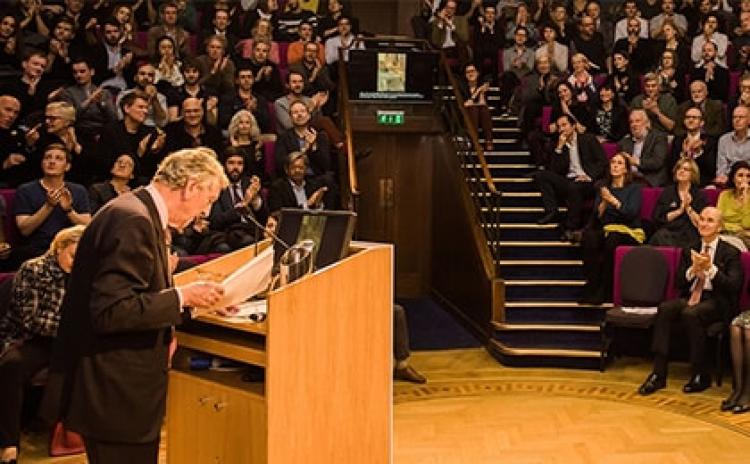 Rafael Moneo delivering the 2017 Soane Medal Lecture