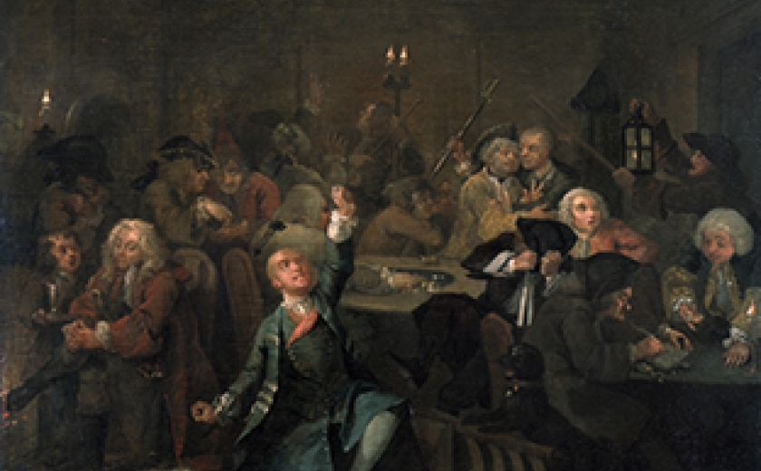 Thumbnail image of the sixth painting in A Rake's Progress