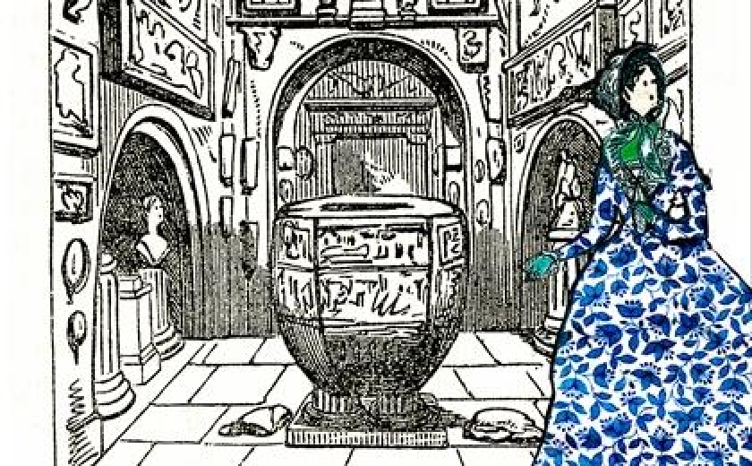 A drawing of the Soane Museum from Charlotte Bronte's London guidebook