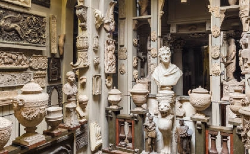 The Dome Area of Sir John Soane's Museum, filled with casts and artefacts