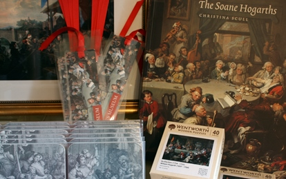 Selection of Hogarth inspired gifts from the Soane Shop