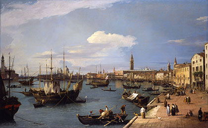 Image of View in Venice, on the Grand Canal, by Canaletto